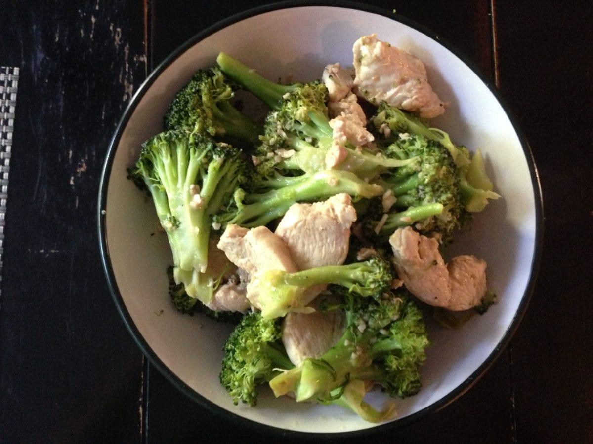 Get Healthy and Lose Weight Recipe - Garlic chicken and broccoli