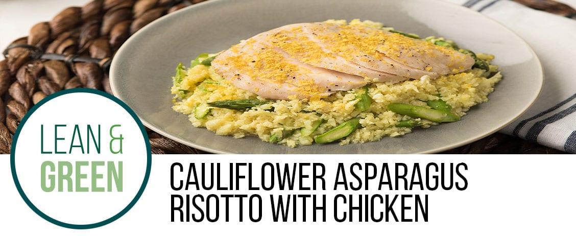 Cauliflower Asparagus Risotto with Chicken