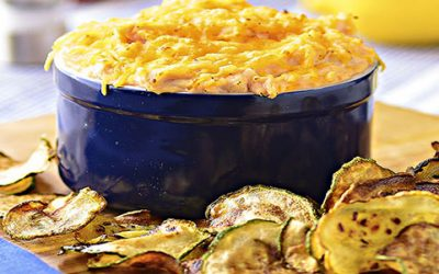 Veggie Chips & Buffalo Chicken Dip